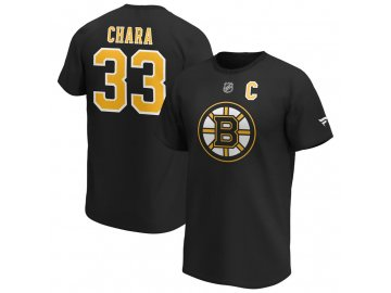 Tričko Zdeno Chara Boston Bruins Iconic Name & Number Graphic