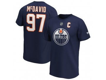 Tričko Connor McDavid Edmonton Oilers Iconic Name & Number Graphic