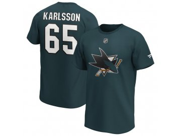 Tričko Erik Karlsson San Jose Sharks Iconic Name & Number Graphic