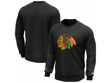 Mikina Chicago Blackhawks Iconic Primary Colour Logo Graphic Crew