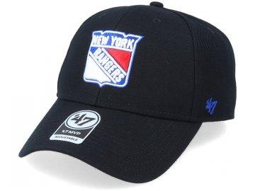new york rangers mvp black white adjustable 47 brand