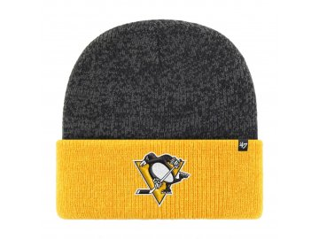 Zimní čepice Pittsburgh Penguins Two Tone Brain Freeze '47 CUFF KNIT