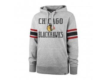 Mikina Chicago Blackhawks Double Block '47 Sleeve Stripe Hood