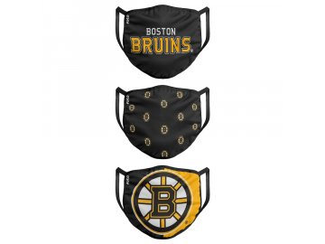 Roušky Boston Bruins FOCO - set 3 kusy (Velikost dospělá velikost)