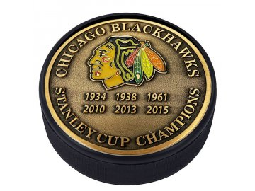 Puk Chicago Blackhawks Stanley Cup Champions Medallion Collection