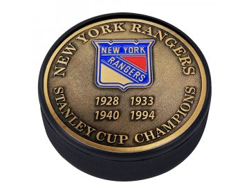 Puk New York Rangers Stanley Cup Champions Medallion Collection