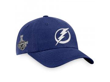 Pánská kšiltovka Tampa Bay Lightning 2021 Stanley Cup Champions Primary Logo Unstructured Adjustable
