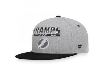Pánská kšiltovka Tampa Bay Lightning 2021 Stanley Cup Champions Snapback Adjustable