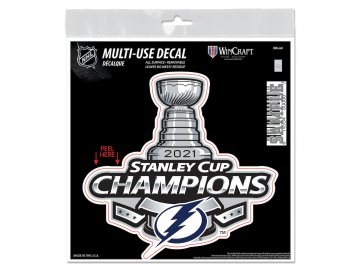 Samolepka Tampa Bay Lightning 2021 Stanley Cup Champions 6'' x 6'' Repositionable Decal