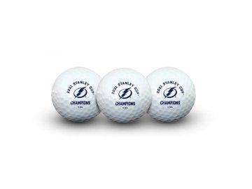 Golfové míčky Tampa Bay Lightning 2021 Stanley Cup Champions Golf Ball 3-Pack