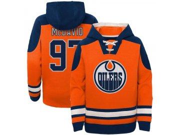 Dětská mikina Connor McDavid #97 Edmonton Oilers Ageless Must-Have V-Neck Name & Number
