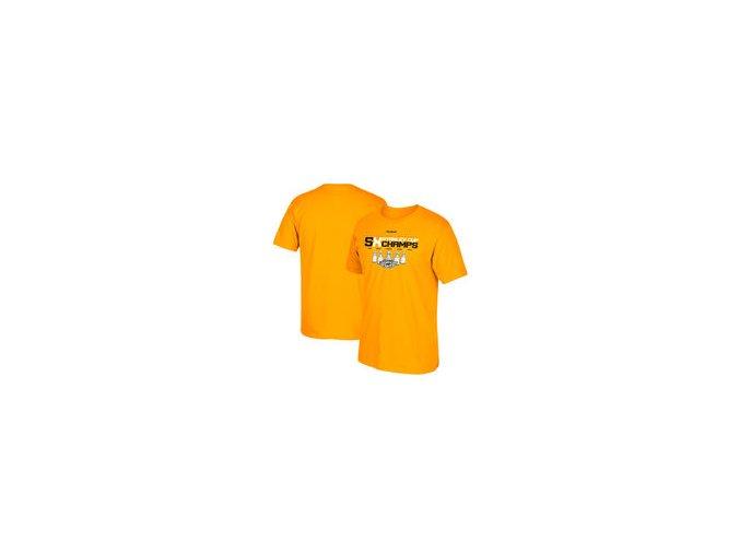 Tričko Pittsburgh Penguins Reebok 2017 Stanley Cup Champions 5-Time Champions T-Shirt - Gold