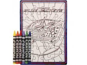 Columbus Blue Jackets puzzle s vlastním vybarvením