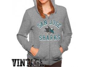 Dámská mikina San Jose Sharks Tri-Blend Full Zip