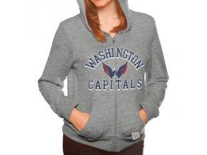 Dámská mikina Washington Capitals Tri-Blend Full Zip