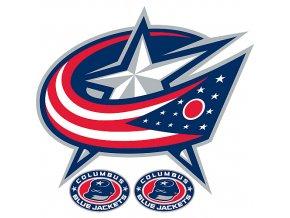 Logo na stěnu - Peel and Stick - Columbus Blue Jackets
