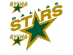 Logo na stěnu - Peel and Stick - Dallas Stars
