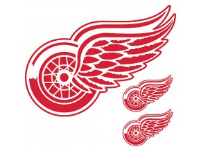 Logo na stěnu - Peel and Stick - Detroit Red Wings