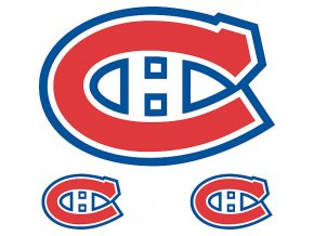 Logo na stěnu - Peel and Stick - Montreal Canadiens