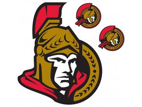 Logo na stěnu - Peel and Stick - Ottawa Senators
