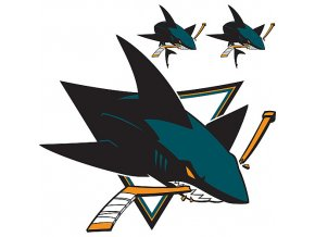 Logo na stěnu - Peel and Stick - San Jose Sharks