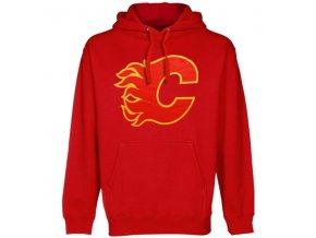 Mikina - Primary Logo - Calgary Flames - červená - dětská