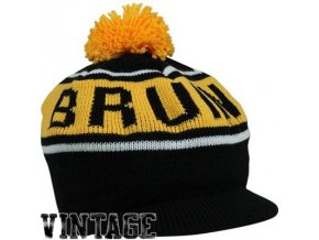 NHL kulich s kšiltem a bambulí Boston Bruins  vintage winter