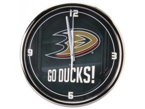 NHL nástěnné hodiny Anaheim Ducks Chrome Wall