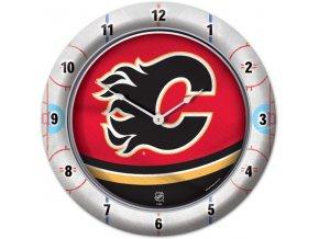 NHL nástěnné hodiny Calgary Flames