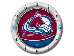 NHL nástěnné hodiny Colorado Avalanche
