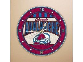 NHL nástěnné hodiny Colorado Avalanche Art Glass Wall