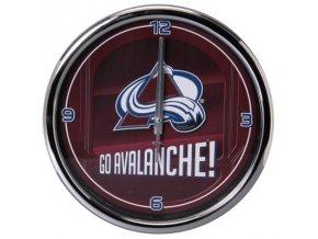NHL nástěnné hodiny Colorado Avalanche Chrome Wall