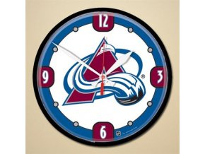 NHL nástěnné hodiny Colorado Avalanche Round Wall