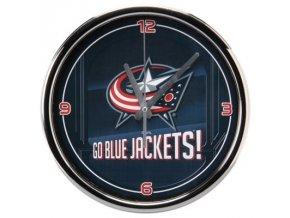 NHL nástěnné hodiny Columbus Blue Jackets Chrome Wall