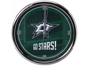NHL nástěnné hodiny Dallas Stars Chrome Wall