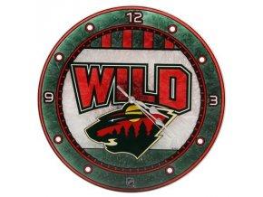 NHL nástěnné hodiny Minnesota Wild Art Glass Wall