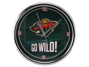 NHL nástěnné hodiny Minnesota Wild Chrome Wall