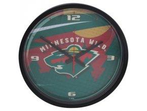 NHL nástěnné hodiny Minnesota Wild Round Clock