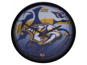 NHL nástěnné hodiny Nashville Predators Round Clock