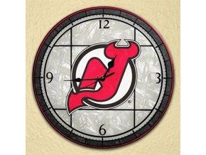 NHL nástěnné hodiny New Jersey Devils Art Glass Wall