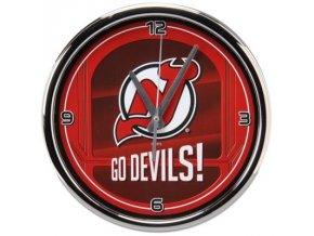 NHL nástěnné hodiny New Jersey Devils Chrome Wall