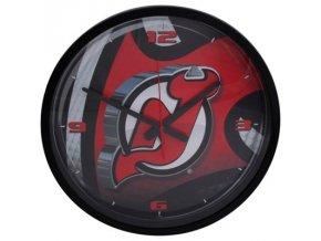 NHL nástěnné hodiny New Jersey Devils Round Clock
