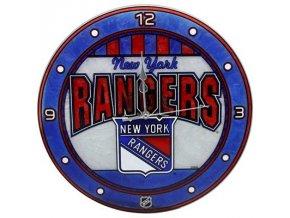 NHL nástěnné hodiny New York Rangers Art Glass Wall