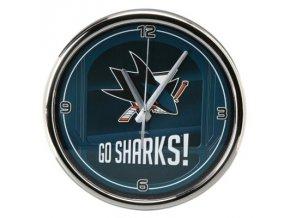 NHL nástěnné hodiny San Jose Sharks Chrome Wall
