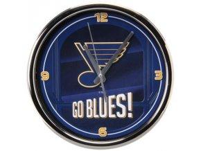 NHL nástěnné hodiny St. Louis Blues Chrome Wall