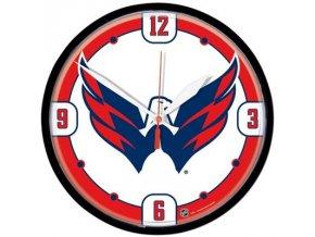 NHL nástěnné hodiny Washington Capitals Round Wall