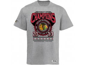 NHL Tričko Chicago Blackhawks 2013 Stanley Cup Champions Circle