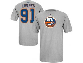 NHL tričko John Tavares #91 New York Islanders - šéde