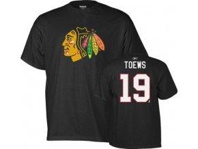NHL Tričko Jonathan Toews Chicago Blackhawks - černé