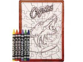Arizona Coyotes (Phoenix Coyotes) puzzle s vlastním vybarvením